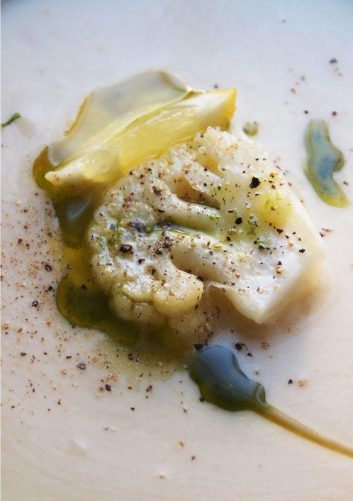 Menü: Suppe Gemüse Blumenkohl